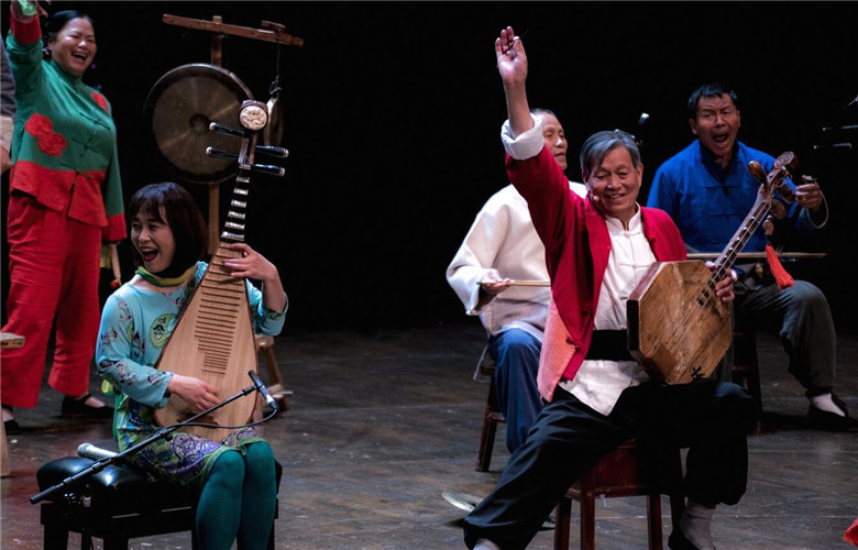 """The Ancient Echo""-Concert of Wu Man, the Silk Road Musicians and Huayin Shadow Puppet"