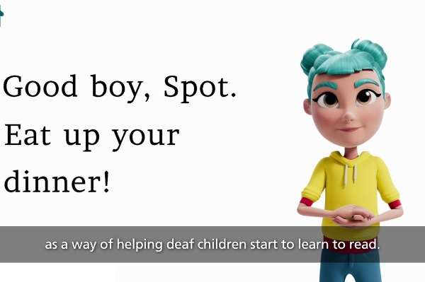 New app enriches story time for deaf kids
